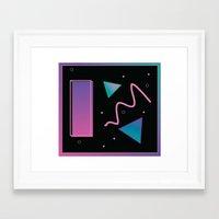 disco Framed Art Prints featuring disco by Hannah Siegfried