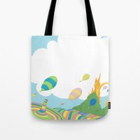 dr seuss Tote Bags featuring oh the places you'll go .. dr seuss by studiomarshallarts