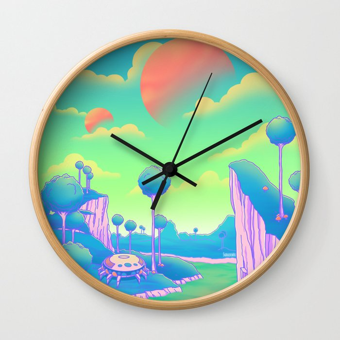 Planet Namek Wall Clock