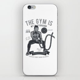 The Gym Is My Playground iPhone Skin