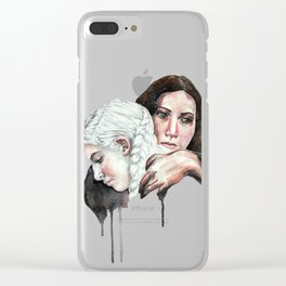 Hold on to this lullaby Clear iPhone Case