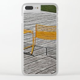 Yellow chairs Clear iPhone Case