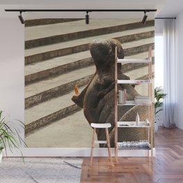 Yawning hippo Wall Mural