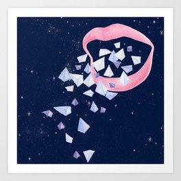 Your words are diamonds Art Print