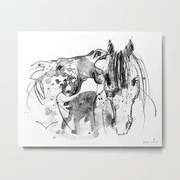Horses (Socializing) Metal Print