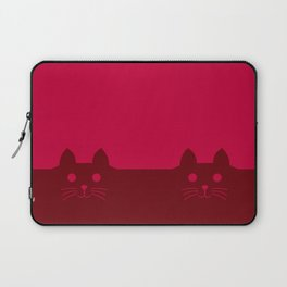 Meow Cat Red Pink Laptop Sleeve