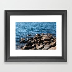Rocks on the Water Framed Art Print