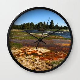 Firehole River Colors Wall Clock