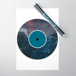 Vinyl Record Art & Design   Stormy Ocean Wrapping Paper