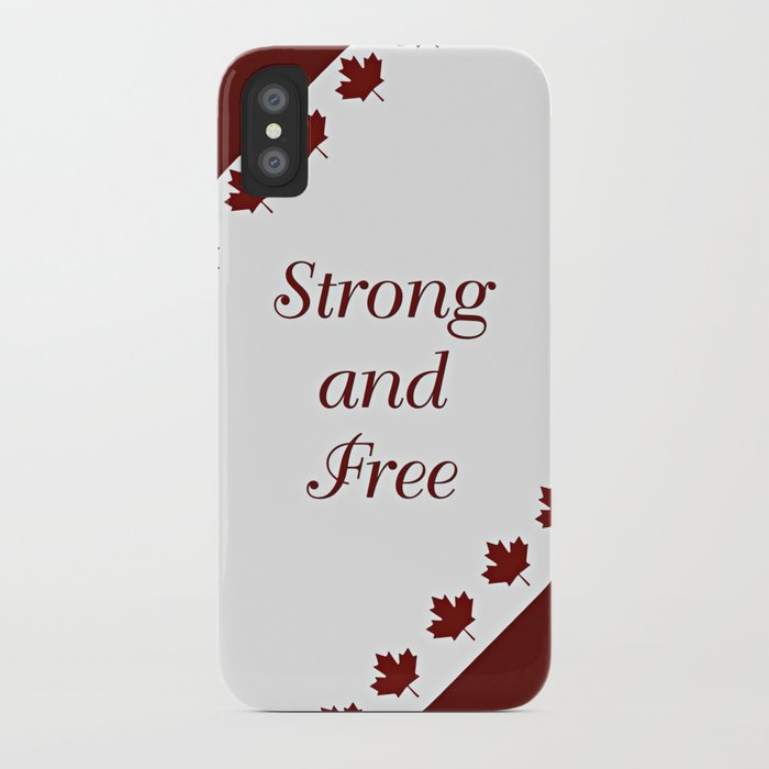 release date dc7aa 574e3 Canada - Strong and Free iPhone Case by lllcreations