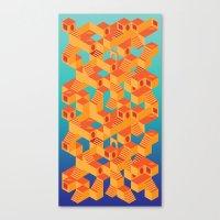 escher Canvas Prints featuring Escher cube by Tony Vazquez
