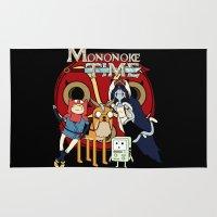 mononoke Area & Throw Rugs featuring Mononoke Time by RebelArtCollective