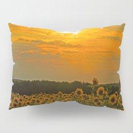Field of Sunflowers at Sunset Pillow Sham