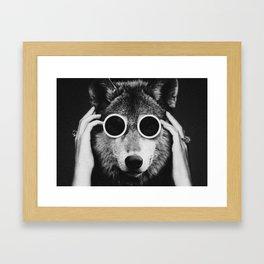 Wolf Glam Framed Art Print
