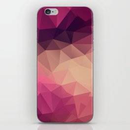 Polygon picture . Sunset. iPhone Skin