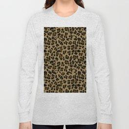 Leopard Print Pattern Long Sleeve T-shirt