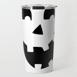 Crazy Jack O'Lantern Face Travel Mug