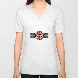 Dead Pool With Classic Pattern Unisex V-Neck