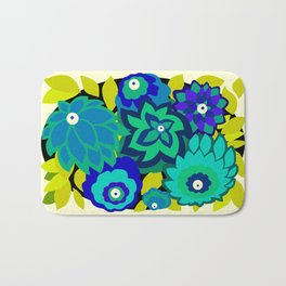 CAMBRIA, ART DECO FLORALS: SEASIDE CHIC Bath Mat