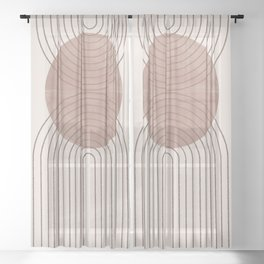Abstract Modern Poster Arch  Sheer Curtain