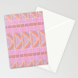 Colorful Geometric Line Work Pattern Stationery Cards
