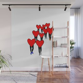 Heart Walk Wall Mural