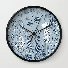 Many Happy Hours in the Garden Wall Clock