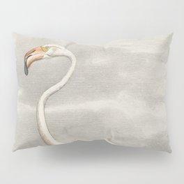 Exotic Flamingo Bird - Minimalism Drawing Pillow Sham