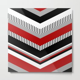 Four colors chevron design Metal Print