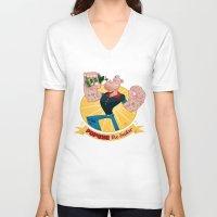 popeye V-neck T-shirts featuring popeye by spundman