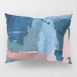 Rhythm of Rain: a modern abstract piece by Alyssa Hamilton Art in blues and pinks Pillow Sham