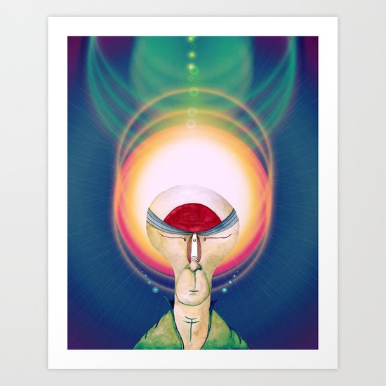 The Cosmic Glow Art Print