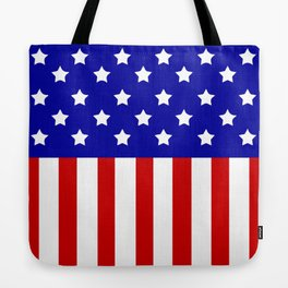 Patriotic stars and stripes Tote Bag