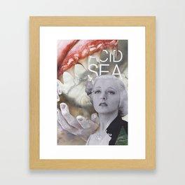 'acid sea' Framed Art Print