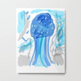 Radioactive tree Metal Print