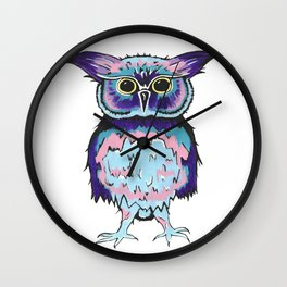 Small Scrappy Owl Wall Clock