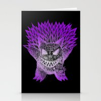 gengar Stationery Cards featuring scratchy gengar  by cavia