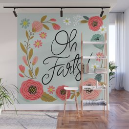 Pretty (not so) Sweary: Oh Farts Wall Mural