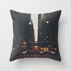 sunset in the city ... Throw Pillow