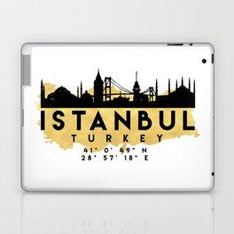 ISTANBUL TURKEY SILHOUETTE SKYLINE MAP ART Laptop & iPad Skin