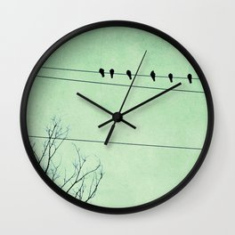 Birds on a Wire, no. 7 Wall Clock