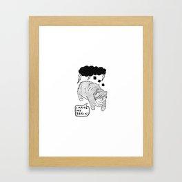 I Hate My Brain Framed Art Print