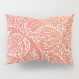 Lacey Pattern on Coral Pillow Sham