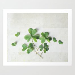 Shamrock Family Art Print