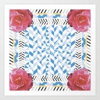 graphic pattern Art Print