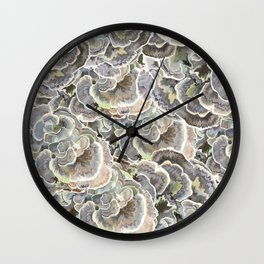 Forest Floor: Turkey Tail Fungi Wall Clock