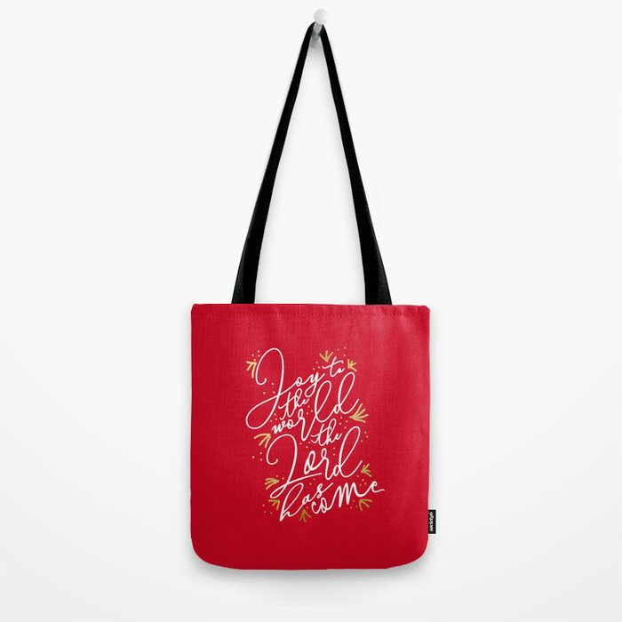 Joy to the World (Red) - Holiday Tote Bag