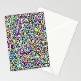 Rainbow Abstract Art by Lucille Ellen  Stationery Cards