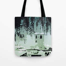 Val D'Isere in the snow Tote Bag