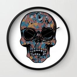 Colorful skull Wall Clock